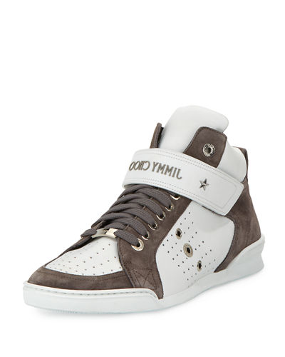 Lewis Suede & Leather High-Top Sneaker