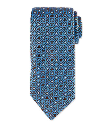 Diamond Medallion-Print Tie