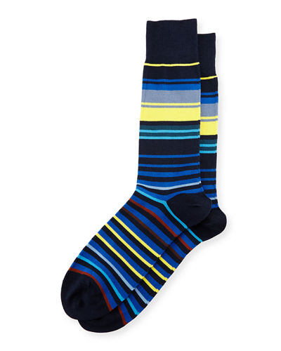 Town-Striped Neon Socks