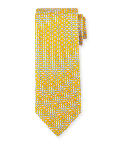 Salvatore Ferragamo Micro Gancini Links Silk Tie