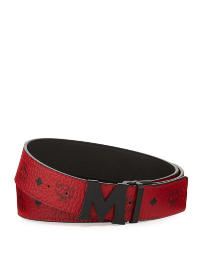 Visetos Reversible Matte-Buckle Belt