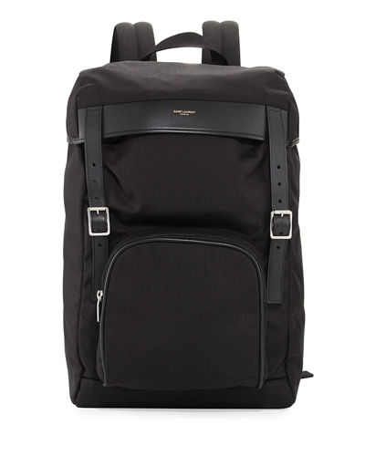 Men's Utilitarian Hunting Backpack with Leather Trim