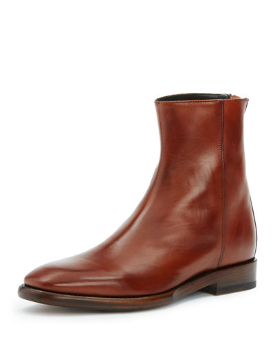 Wright Back-Zip Leather Boot