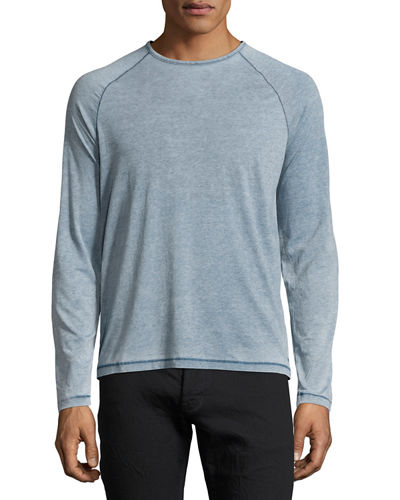 Long-Sleeve Raglan Crewneck T-Shirt