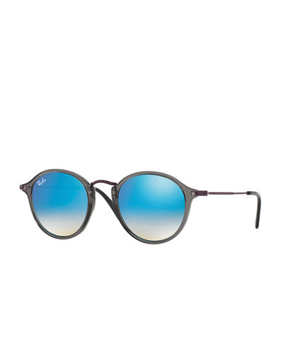 Men's Classic Round Flash Sunglasses