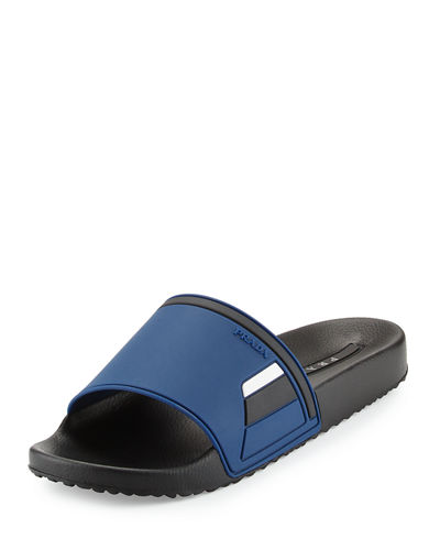 Men's Colorblock Rubber Slide Sandal