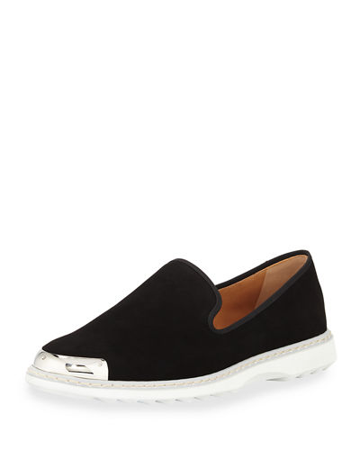Men's Suede Metal-Toe Slip-On Sneaker