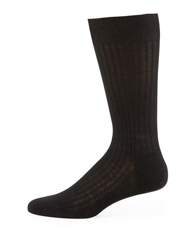 Solid Wool Half-Calf Socks