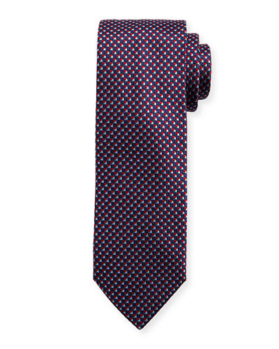Textured Diagonal Box Neat Tie