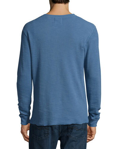 Hartford Slub Ribbed Henley T-Shirt