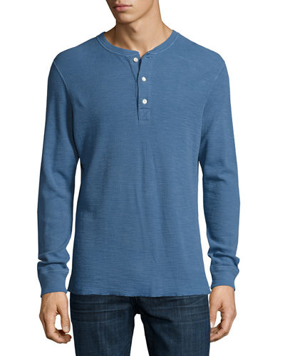Billy Reid Hartford Slub Ribbed Henley T-Shirt