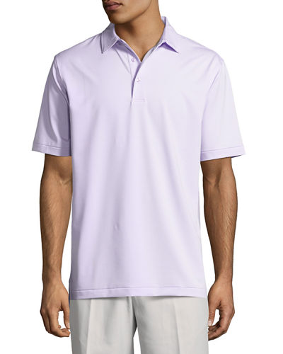 Jubilee Micro-Striped Stretch Polo Shirt