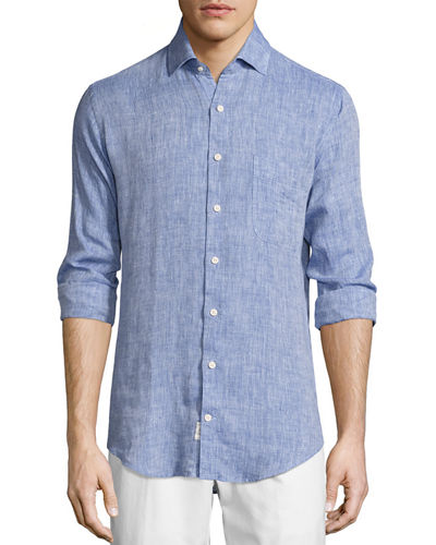 Peter Millar Crown Cool Linen Sport Shirt