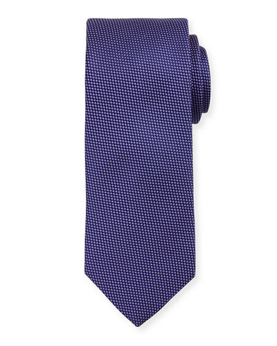 Micro-Houndstooth Silk Tie