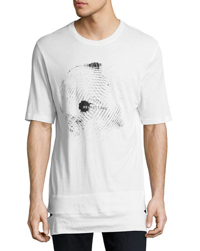 Disco Ball Logo Cut-Hem T-Shirt