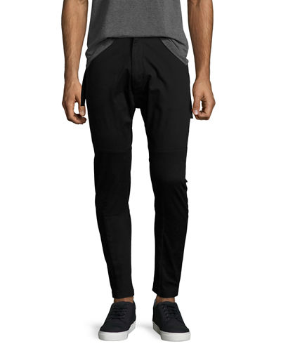 Side-Strap Slim-Fit Trousers