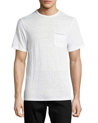 Owen Cotton Pocket Crewneck T-Shirt