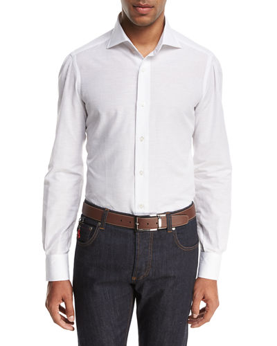 Cotton-Linen Sport Shirt