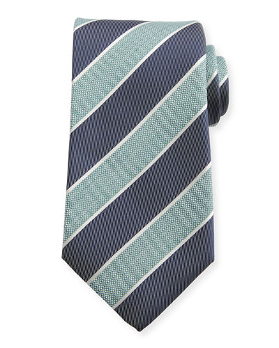 Pastel Wide-Stripe Silk Tie