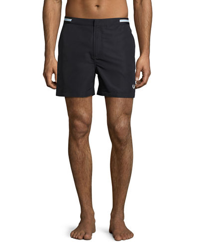 Bomber-Tape Swim Shorts