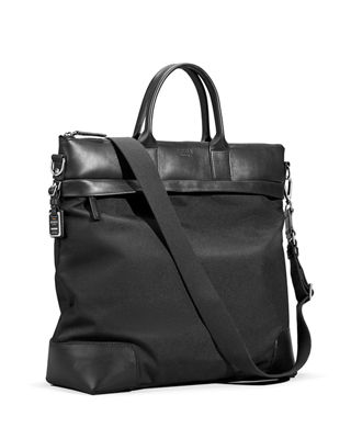 Shinola Men's Medium Leather & Nylon Travel Tote Bag