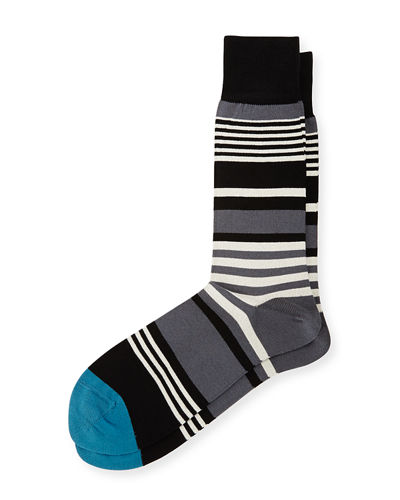 Ecru Striped Socks