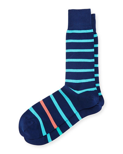 Simple Neon Striped Socks