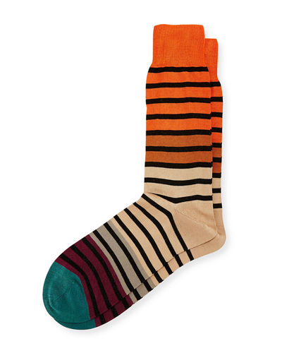 Fialor Striped Colorblock Socks