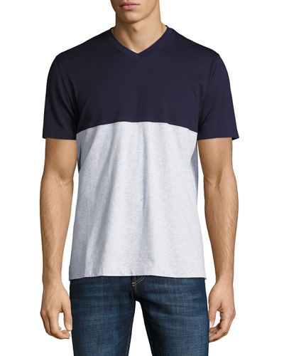 Colorblock V-Neck T-Shirt
