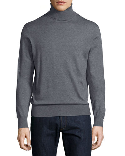 Neiman Marcus Cashmere-Silk Turtleneck Sweater