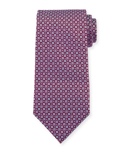 Square & Circle Silk Tie