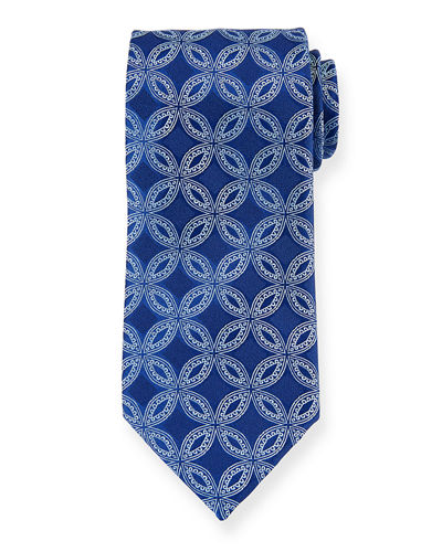 Etched Flower Silk Tie