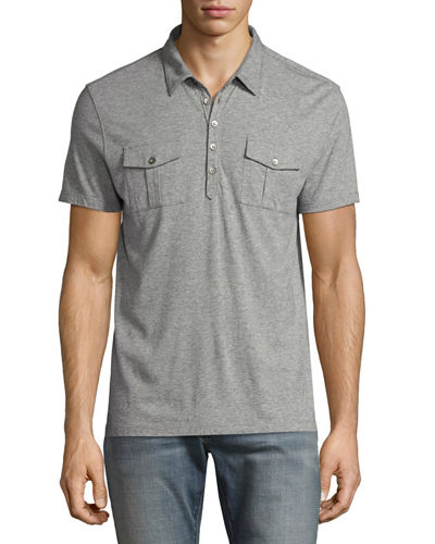 John Varvatos Star USA SS JRSY POLO W