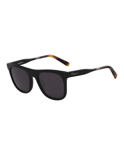 Men's Universal-Fit Classic Logo Square Sunglasses