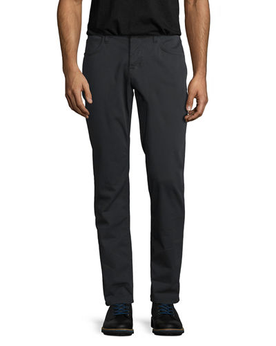 Blake Double-Cuff Slim-Straight Twill Jeans