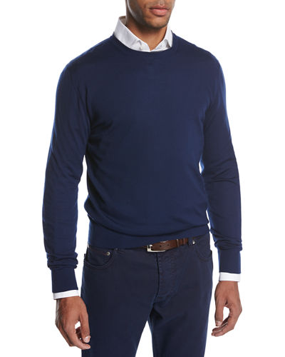 Crewneck Merino Wool Sweater