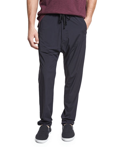 Athletic Drop-Rise Stretch-Nylon Pants