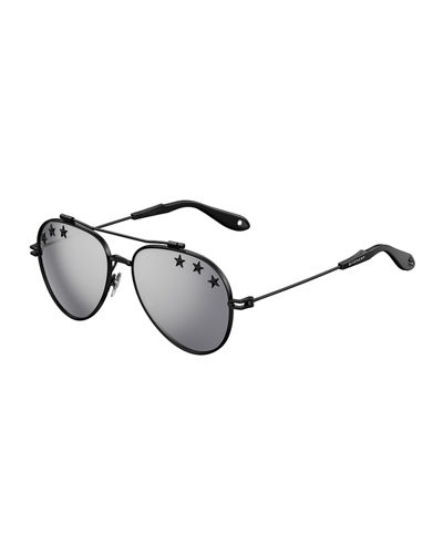 Givenchy Men's GV 7057 Star Aviator Sunglasses