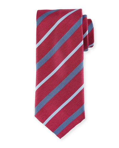 Textured Multi-Stripe Tie