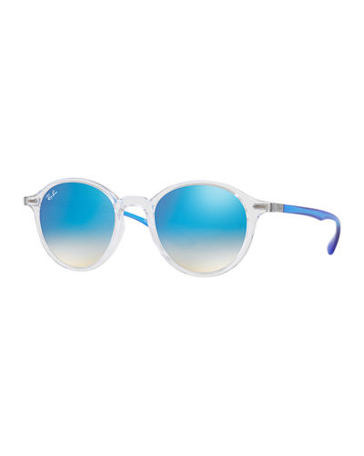 Men's RB4237 Round Flash Sunglasses