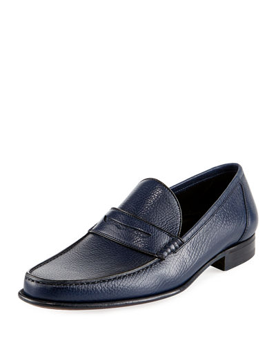 Pebbled Llama Leather Loafer