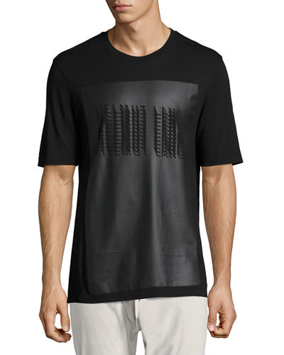 Coated Glitch Logo T-Shirt