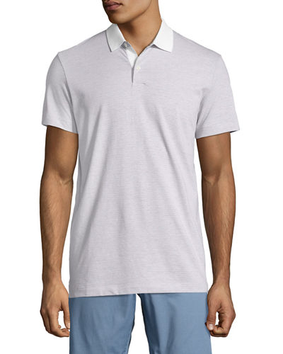 Sandhurst Dotted-Stripe Polo Shirt