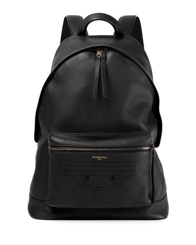 Blackout Men's Leather Backpack