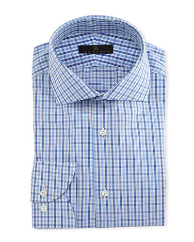 Gold Label Tattersall Cotton-Cashmere Dress Shirt