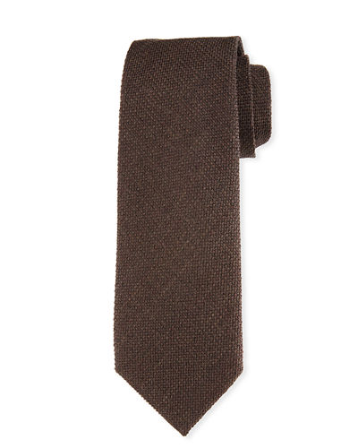 TOM FORD Textured Silk-Wool Tie