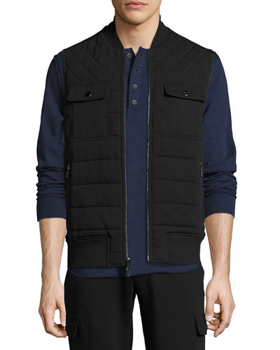 Quilted French Terry Knit Vest