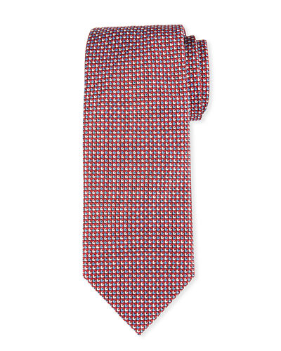 Alternating Tic Silk Tie