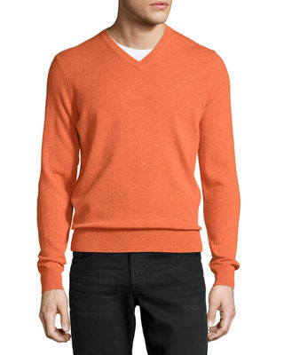 Orange Cashmere Sweater | Neiman Marcus