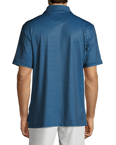 Crown Sport Bruce Dot-Print Performance Polo Shirt